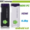 Portable cheapest Android 4.0 AllWinner A10 OEM mini pc 1GHz 1GB 4GB 1080P HDMI output WIFI USB TV player OTG function support