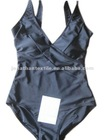 classic style! lady's one piece v-neck black swimwear