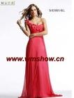 2011 Latest Designed Fashionable Red One Shoulder Prom Dress
