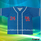 custom baseball jersey make from 100% polyester