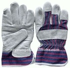 Cow split grey leather work glove