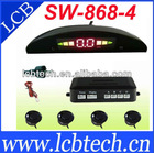 SW-868-4 Electromagnetic parking sensor with led display, do not dirll on bumper easy installation