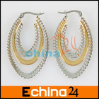 Three Laps Oval-Shaped Ear Rings Fashion Macro Ring
