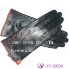 lady's winter goatskin leather durable gloves