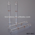 63mm length clear glass tube with printing
