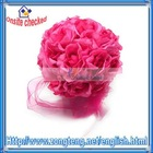 Hot Sales !! Dark Pink Flower Ball for Wedding Decor