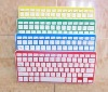 Wireless combo, colored wireless keyboard and mouse combo in apple shape