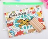 Kids' coloring book & Wooden color pencil & Drawing set(ss-061)