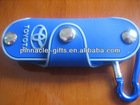 rubber soft pvc 3D key case with key holder