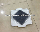 bbq gas grill lava rock stone for cooking with white ceramic board