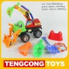 Sandy car set/ plastic beach toys 5pcs