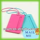 lovely silicone rubber luggage tags