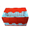 mesh collapsible plastic crate with lid