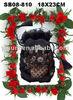 Handmade ribbon embroidery,Wholesale drawstring backpack ,Green bag