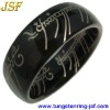 Black tungsten carbide ring (lord of the rings)