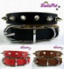 Top Quality 100% Genuine Cow Leather Spike Dog Collar