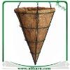 Jardiniere conique de avec doublure en fibre de coco