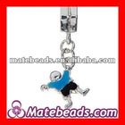 Christmas Gift Dangle Blue Alloy Boy Chams Beads For Jewelry Making