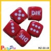 16mm customized logo poker dice