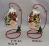 Ceramic christmas house candle holder