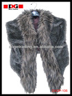 latest design hot sale fake fur trim warm eco-friendly shawl with balls factory direct sale NEW! NEW!!