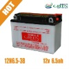 mini powered motorcycle battery 12v 6.5ah (12N6.5-3B)