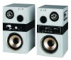 2.0 audio speaker professional active speaker wooden box karaoke speaker home theater system with usb,sd,fm,amplifier(HF-01)