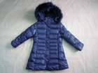 Wholesale & Retail Girls Fur Hooded Down Coat/jacket--Blue