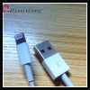 high quality white USB data cable with 8 pin