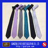 High Quality Fashion Woven Plain Slim Tie for Boys