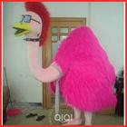 Popular fur costume ostrich