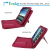Hot Pink color PU leather zipper case cover for mini ipad 7