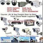 CCTV Products Airfreight Door To Door From Ningbo To Kenya By Retek Logistics