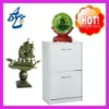 2012 OEM white 2D shoes cabinet, metal shoes cabinet with jade . metal cabinet, jade ,jade carving,jade sculpture