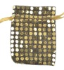golden organza pouch jewelry packaging bag