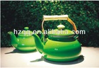 ENAMEL TEAPOT WITH WOODEN HANDLE ZH1.0-1.8-E