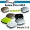 Lepow Stone 3000 external battery for ipad / 6000mah portable power source / power source