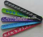cheap custom free rubber festival fabric wristbands (TC-W-181)