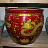 large red decorative porcelain planter RYVB06