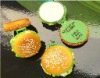 Artificial food fruit fashion personal hamburger shaped cosmetics mirror