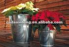 flower metal pail