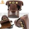 Digital leather camera bag
