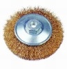 Crimped abrasive wire brush