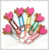lovely shaped soft pvc paper clip