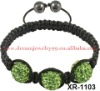 fashion shamballa macrame disco ball bracelet