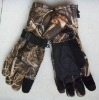 2011 hotsell leaflike camouflage outdoor hunting gloves