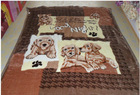 2012 New Style Animal Printed Super Soft hand slippery Full Sizes Thick Coral Fleece Blankets All Colors Available