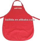 kid's red craft apron with two pockets