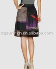 latest fashion lady color skirt