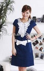 2012 Ladies Design Uniform Denim Dress--02